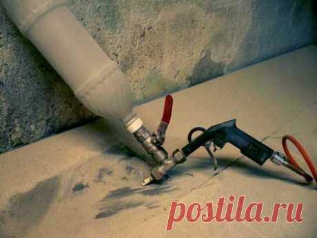 Самодельный портативный пескоструй