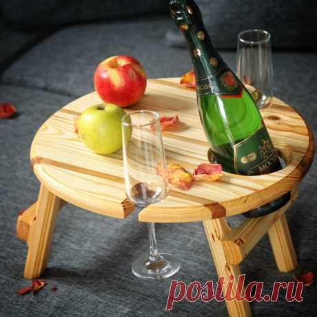 Винный столик ручной работы
