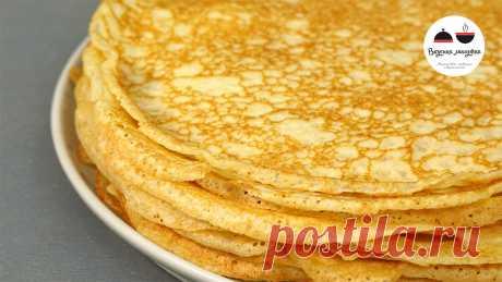 Блинчики из черствого хлеба - добавляю его вместо муки | Кухня наизнанку | Яндекс Дзен