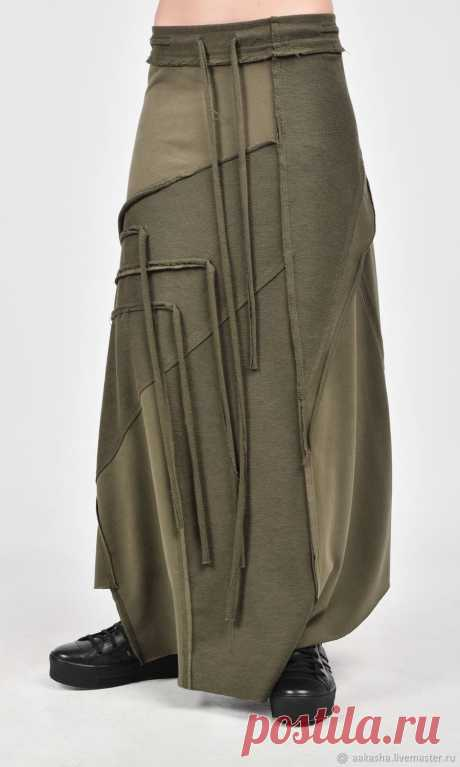 Длинная юбка Grunge A09385 – купить в интернет-магазине на Ярмарке Мастеров с доставкой Длинная юбка Grunge A09385 - купить или заказать в интернет-магазине на Ярмарке Мастеров | Экстравагантная юбка из плотного хлопка с…