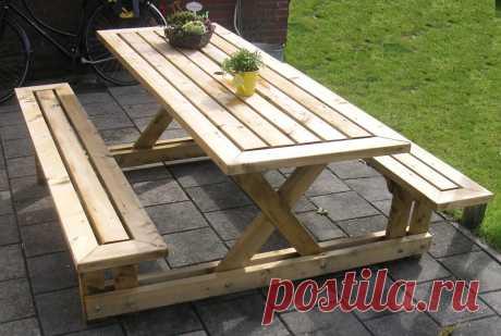 Как сделать из фанеры и досок рабочий садовый стол
