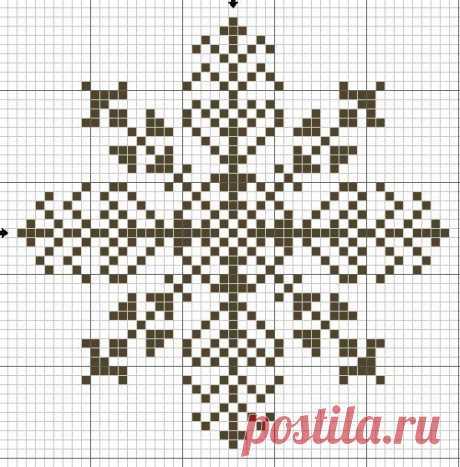 Снежинки крестиком, схемы