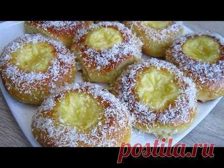 Булочки с Кремом и Лимонной глазурью/  Scones with Cream and Lemon Icing