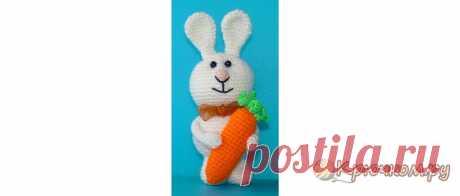 Игрушка Заяц крючком (видео МК) В мастер-классе по вязанию игрушки Зайца крючком вы найдете подробное описание и несколько видео уроков. Присоединяйтесь!