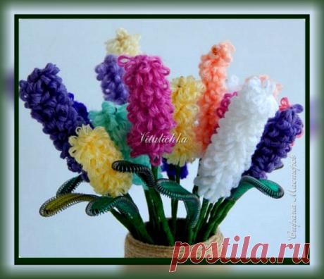 Как из остатков пряжи сделать отличный подарок – Букет цветов к 8 марта! Творим вместе с детьми | Рукоделкино | Яндекс Дзен