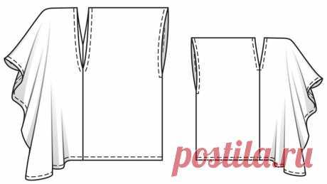 Как сшить платье или тунику без выкройки | Рукоделие
