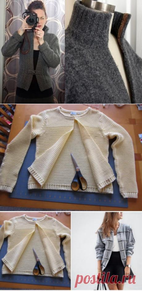 En su armario se ha estancado el jersey viejo o svitshot: las ideas de estilo por el rehacimiento …