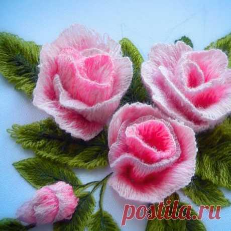 Как вышивать трехмерные лепестки для роз: цветы, как настоящие | Создавай сам | Яндекс Дзен