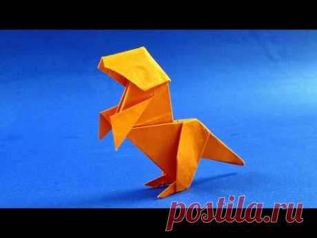 Как сделать динозавра из бумаги. Оригами Динозавр из бумаги - Аллозавр