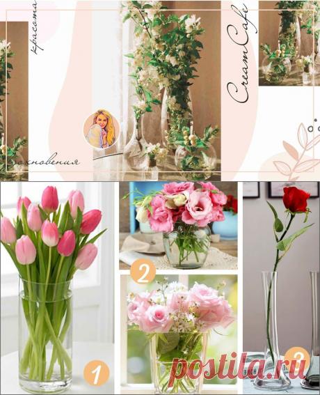 Как выбрать стильную вазу для букета и интерьера   Cafe Cream. Женское кафе   Яндекс Дзен