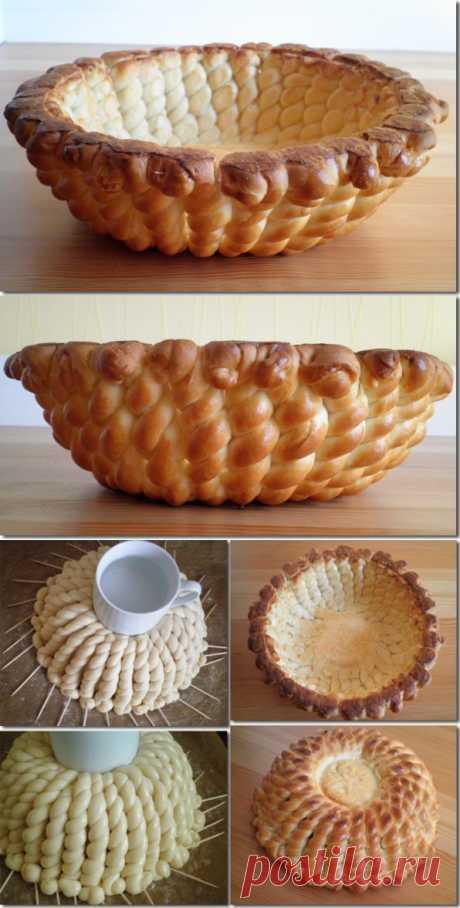 Прекрасная пасхальная идея выпечки! Хлебная корзина.