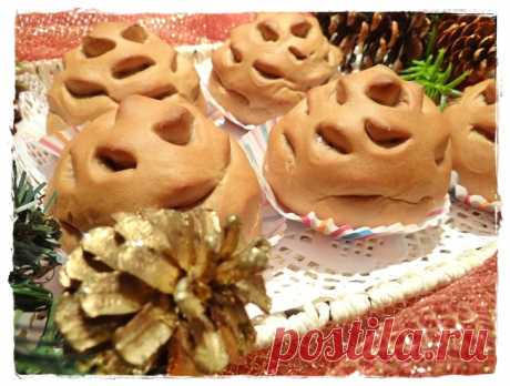 Булочки Шишки с ореховой начинкой