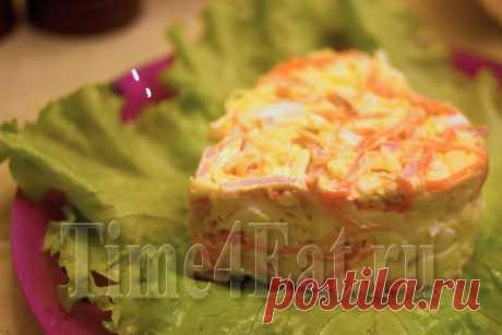 Салат с корейской морковью и ветчиной | Пора перекусить!