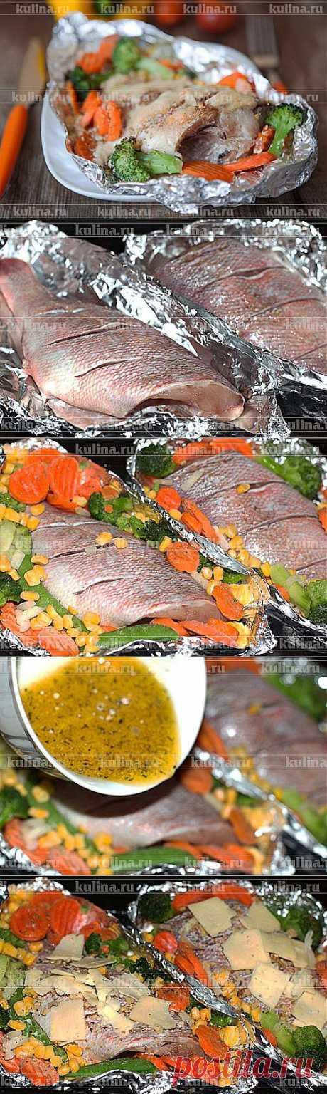 Окунь, запеченный в духовке – рецепт приготовления с фото от Kulina.Ru