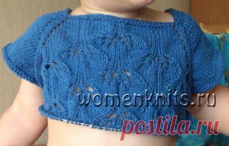 Платье SweetBluebells для девочек спицами