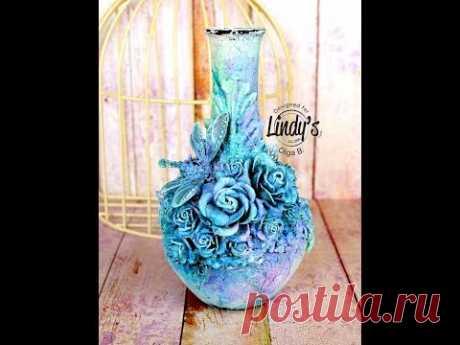 Altered Art Vase - tutorial by Olga Bielska - YouTube
