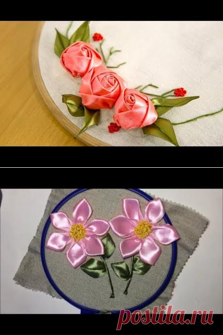 Мак из атласной ленты / Poppy from satin ribbon - YouTube