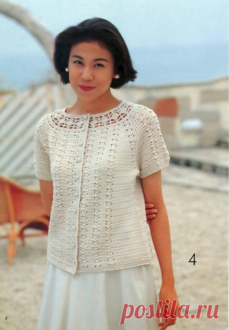 Вяжем 5 эксклюзивных летних моделей для милых дам.   Дневник многодетной мамы   Яндекс Дзен
