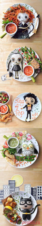 Художница Ли Саманта превращает блюда в шедевры.