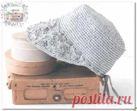 Сочетание двух видов головных уборов в одном – шляпка-кепка, связанная крючком. Интересный вариант спортивного шика  #вязание #творчество #рукоделие