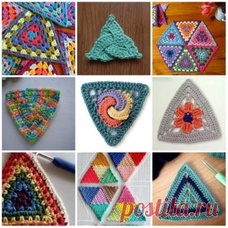 Бабушкин треугольник, пробовали такой мотив вязать? из категории Интересные идеи – Вязаные идеи, идеи для вязания