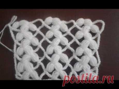 Fıstıklı dikdörtgen şal modeli yapım videosu