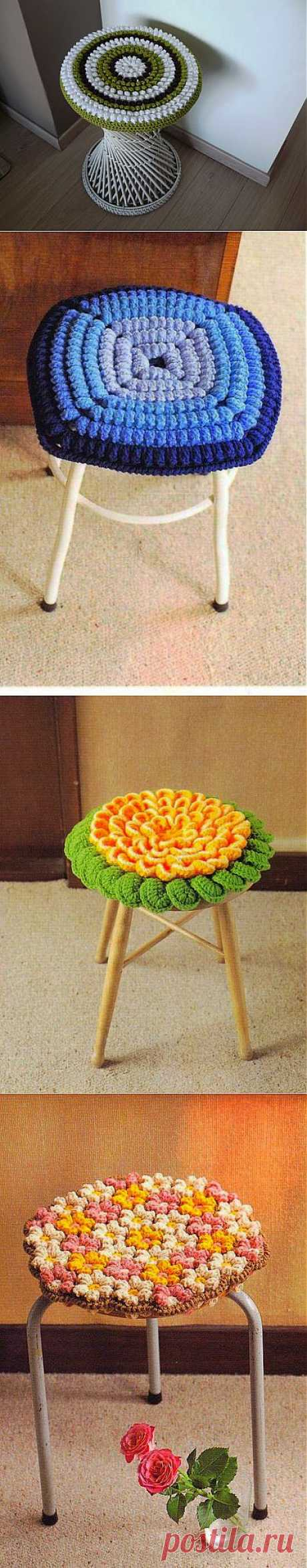 COVERS ON STOOLS.