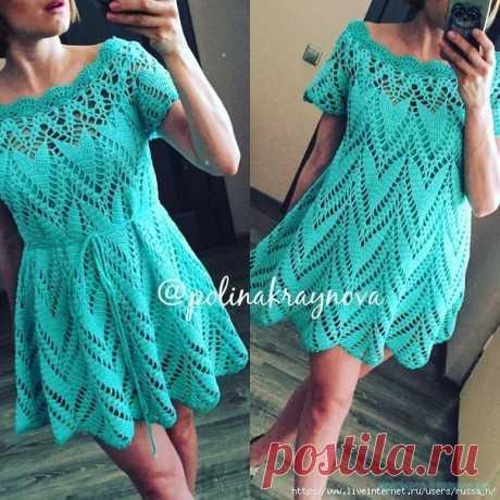 Платье от Полины Крайновой — Красивое вязание
