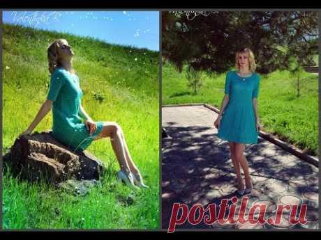 """Платье """"Вкус мяты"""" крючком//4 часть//вяжем рукава//сшиваем рукава//Valentinka B."""