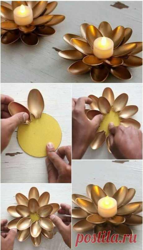 Домашний декор из пластиковых ложек ~ ALL-DEKOR