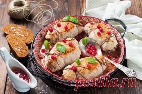 Куриный рулет со смородиной — Sloosh – кулинарные рецепты