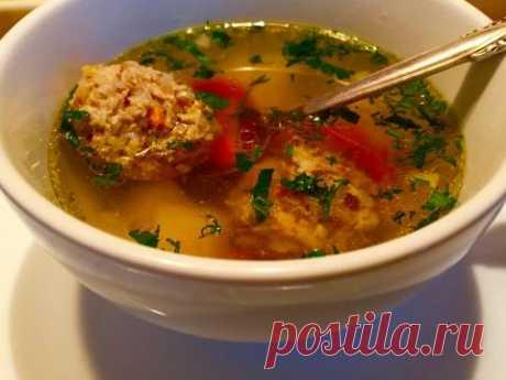 Суп с гречневыми фрикадельками . И мои советы
