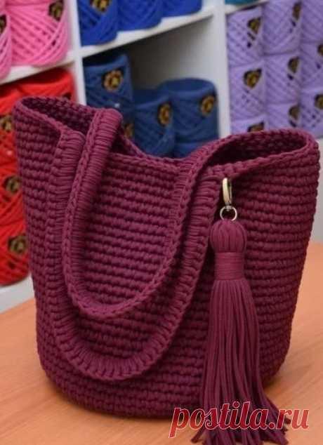 Идея для вязания симпатичной летней сумочки