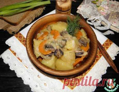Грибы с картофелем в сметанном соусе – кулинарный рецепт