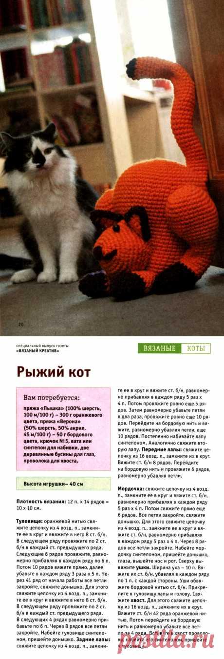 Рыжий кот крючком