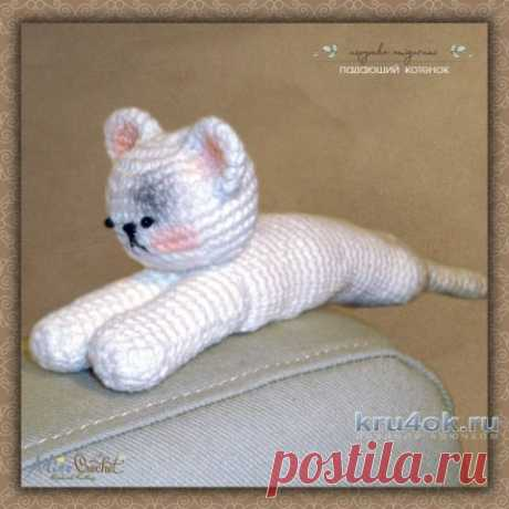 Амигуруми Падающий котенок. Работа Alise Crochet