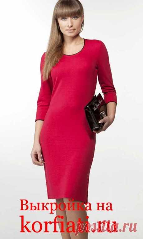 Выкройка платья без вытачек от А. Корфиати