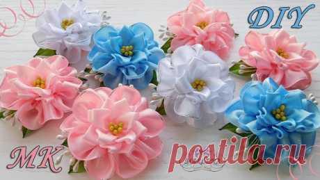 Flores de fitas de cetim passo a passo - Criativo Ok