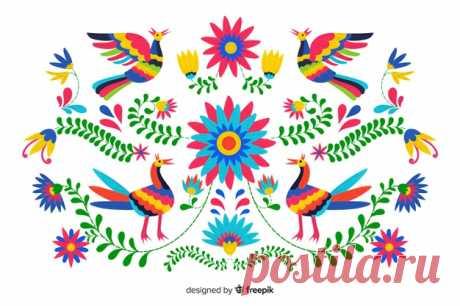 Descarga gratis Fondo de bordado de flores mexicano Descubre miles de vectores gratis y libres de derechos en Freepik