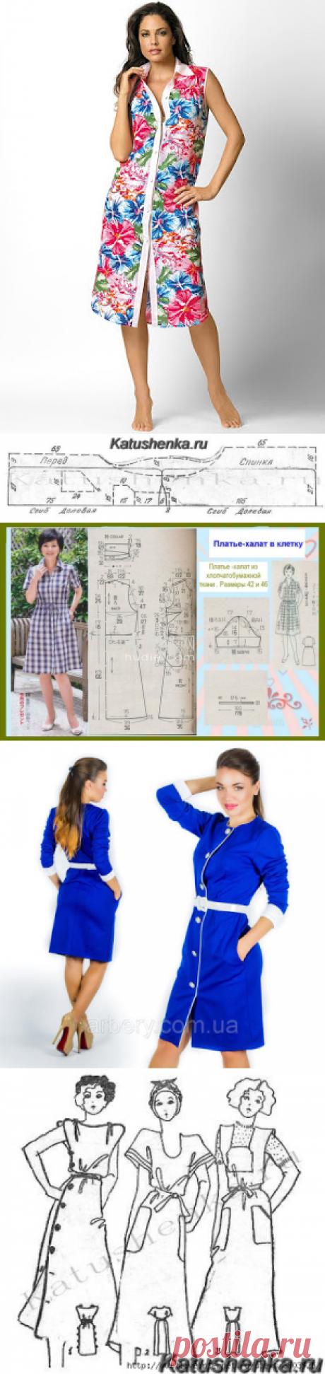 Мастера и умники: Платье-халат за полчаса и выкройка для него
