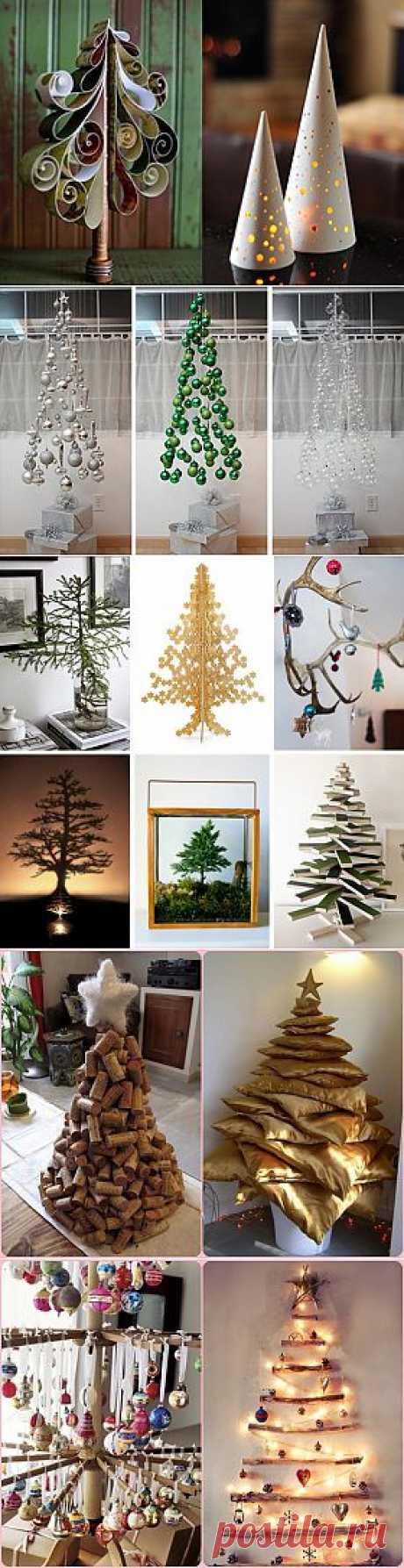 Как сделать необычную елку для Нового года своими руками: фото