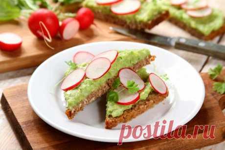 Паста из авокадо для бутербродов на завтрак – пошаговый рецепт с фото.