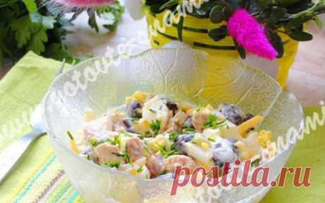 Вкусный салат с фасолью   Готовьте с нами