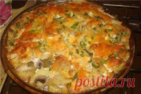 Не знаете чем покормить своих родных? Приготовьте картошку на скорую руку!
