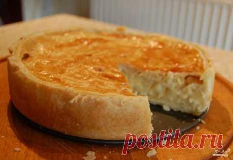 Луковый пирог с плавлеными сырками - рецепт с фото на Повар.ру
