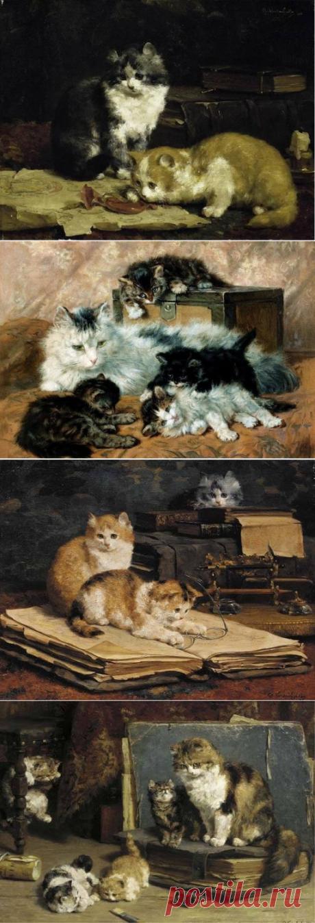 Котята. Charles van den Eycken.