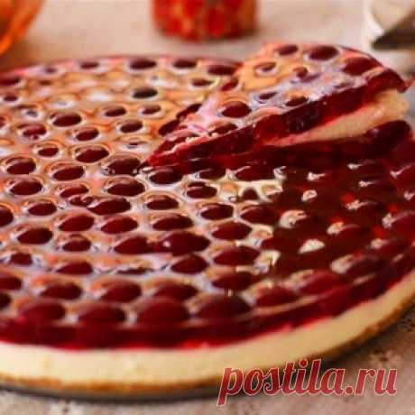 Cherry cake without pastries