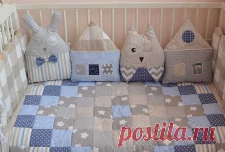 Как сшить бортики в детскую кроватку для новорожденных своими руками: выкройки, размеры, фото