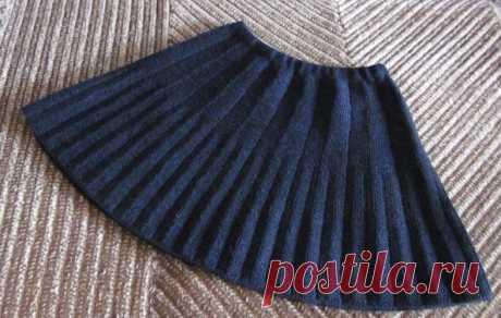 Вязаная юбочка для школьницы из категории Интересные идеи – Вязаные идеи, идеи для вязания