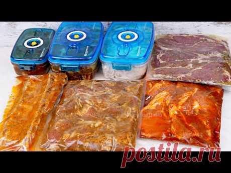 7 маринадов для вкуснейшего шашлыка из курицы, говядины и свинины🥩Готовим на мангале, гриле, барбекю